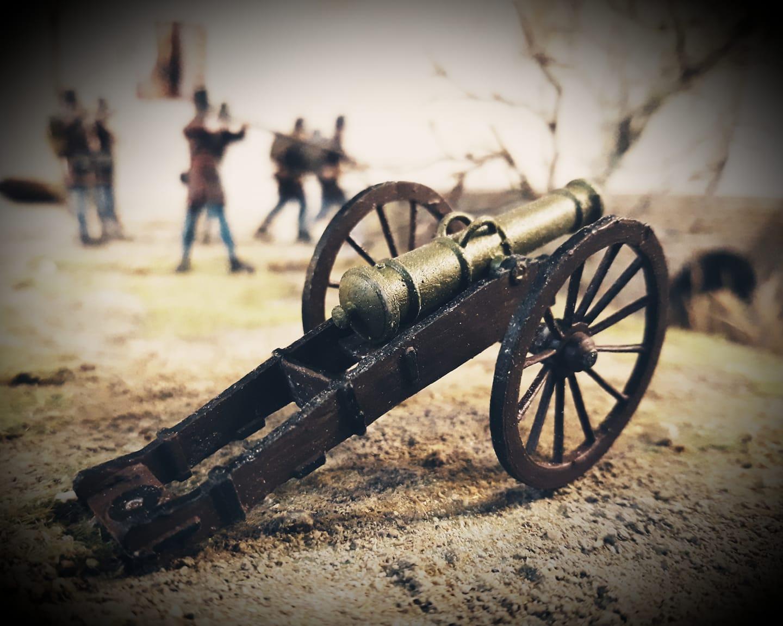Makettt ágyú 1:35 méretben, festve