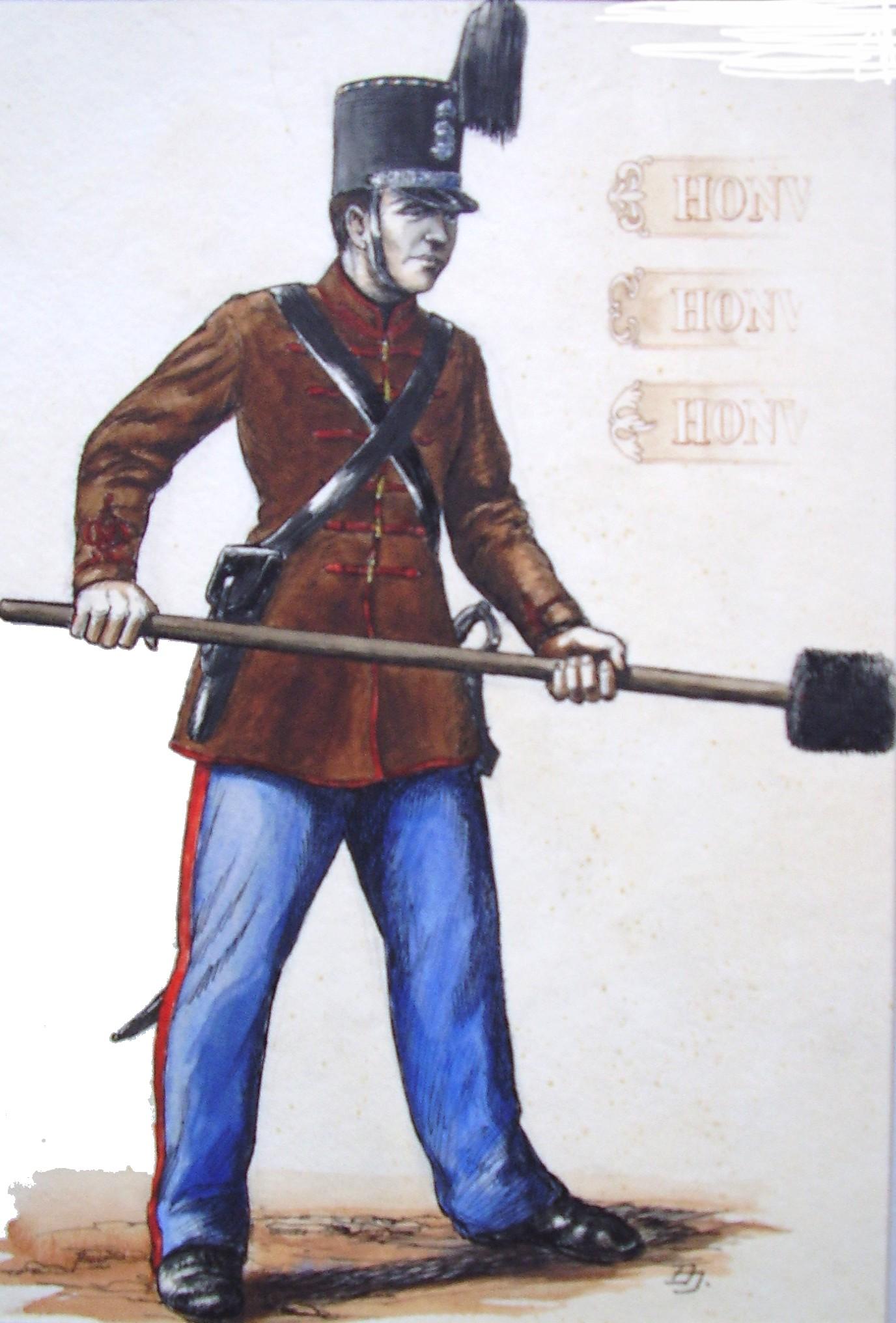 Honvéd tüzér 1848