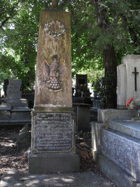 Cserey Ignác honvéd ezredes sírja