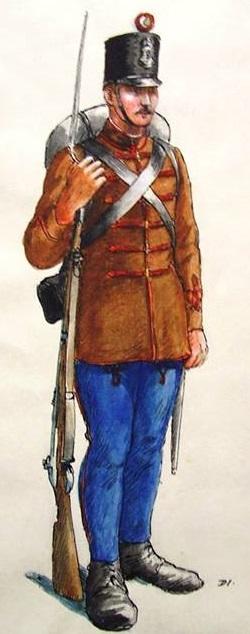 Honvéd gyalogos 1848.