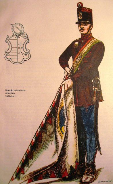 Honvéd zászlótartó 1848.
