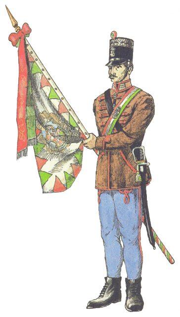 Honvéd gyalogság zászlótartó 1848.