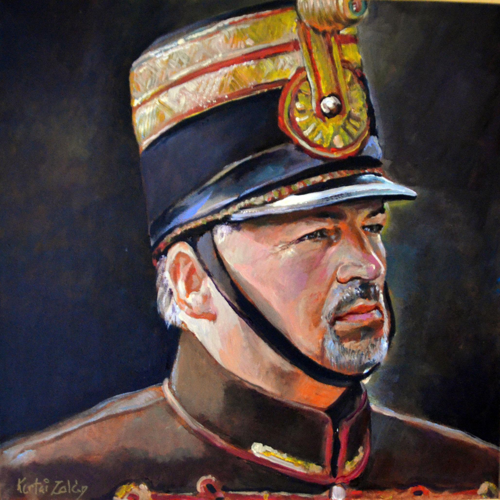 Berlinger Gábor hő. honvéd hadnagy - Kertai Zalán festménye