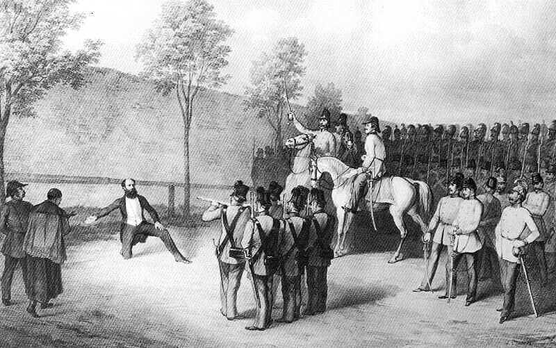 Batthyány Lajos kivégzése Pesten