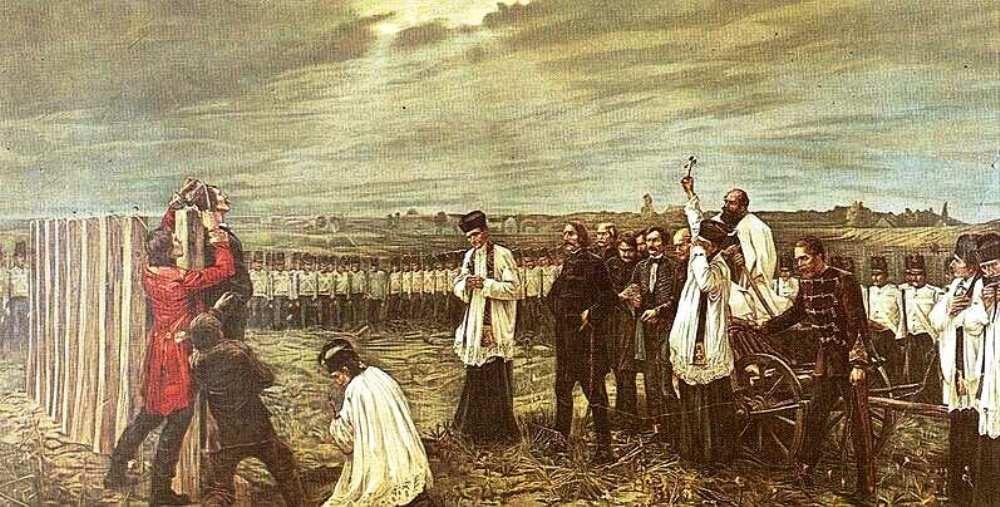 Thorma János: Az Aradi Vértanúk felakasztása