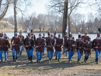 Honvéd gyalogság szuronyrohama 1848