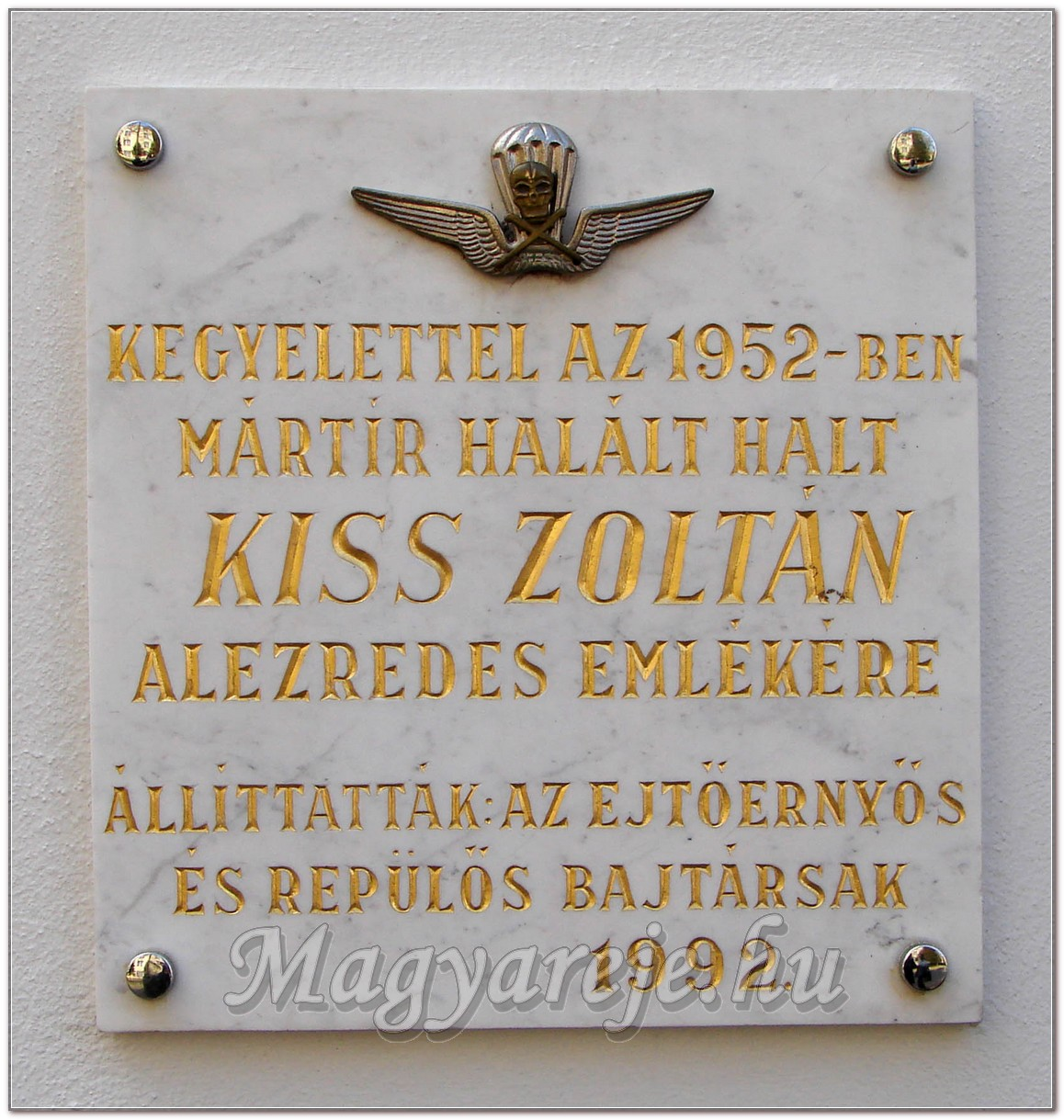 Kiss Zoltán ejtőernyős százados