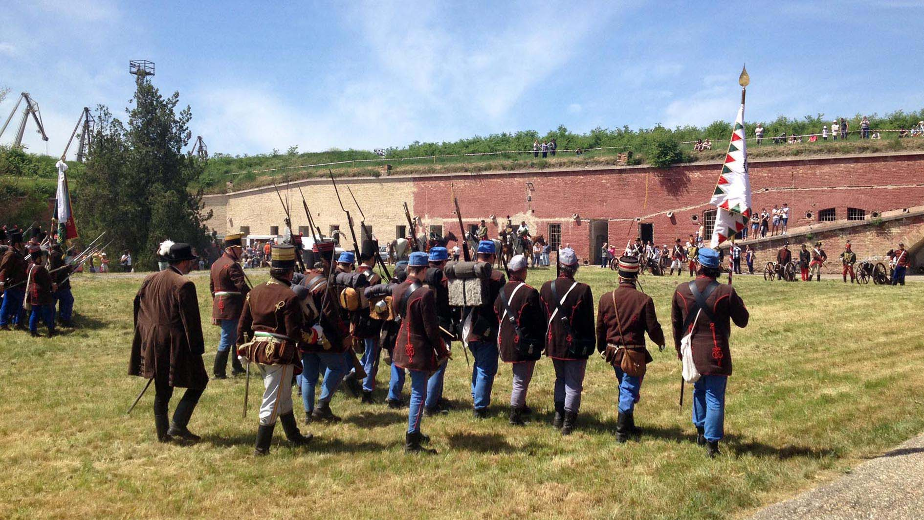 Komárom Öreg-vár csatabemutató (fotó: Ludovit Gráfel)