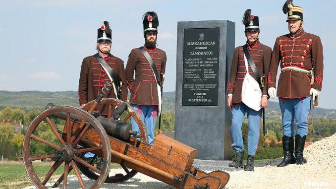 Miskahuszár szoboravató - Budai 2. Honvédzászlóalj tüzérütege- Sándor Judit fotója