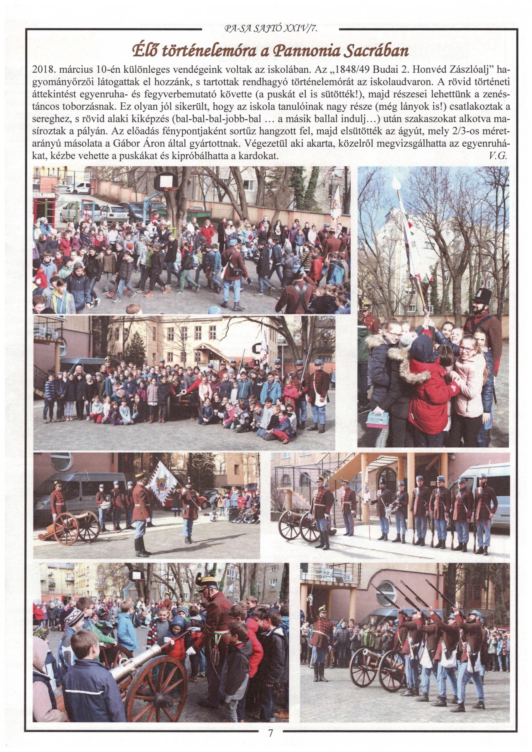 A Budai 2. Honvédzászlóalj a Pannonia Sacra-ban