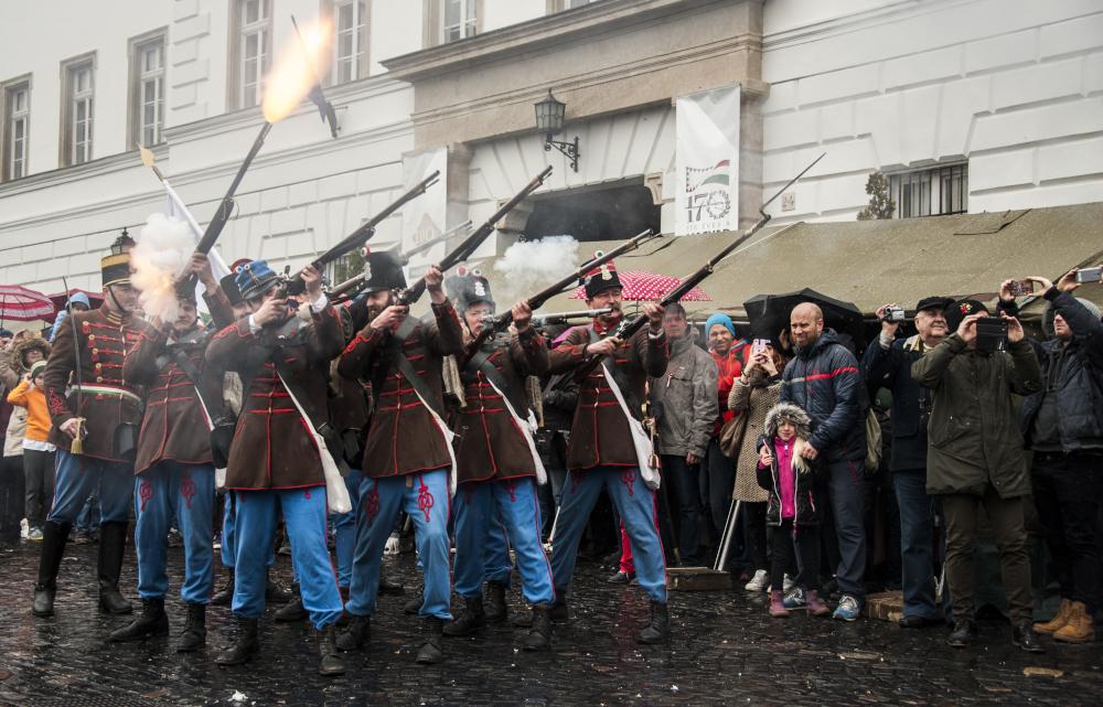 Csatabemutató a Forradalmi Forgatagon Fotó: Snoj Péter
