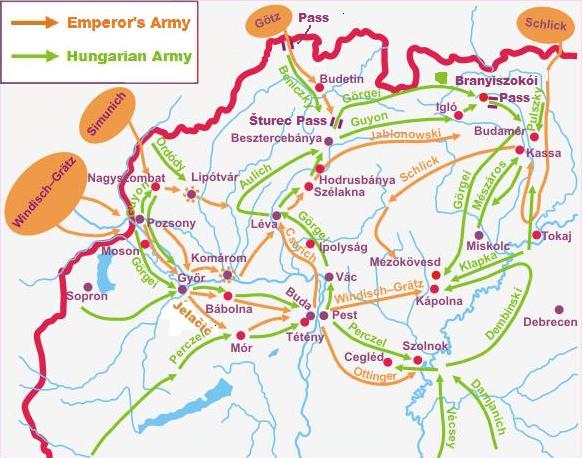 Téli hadjárat térképe