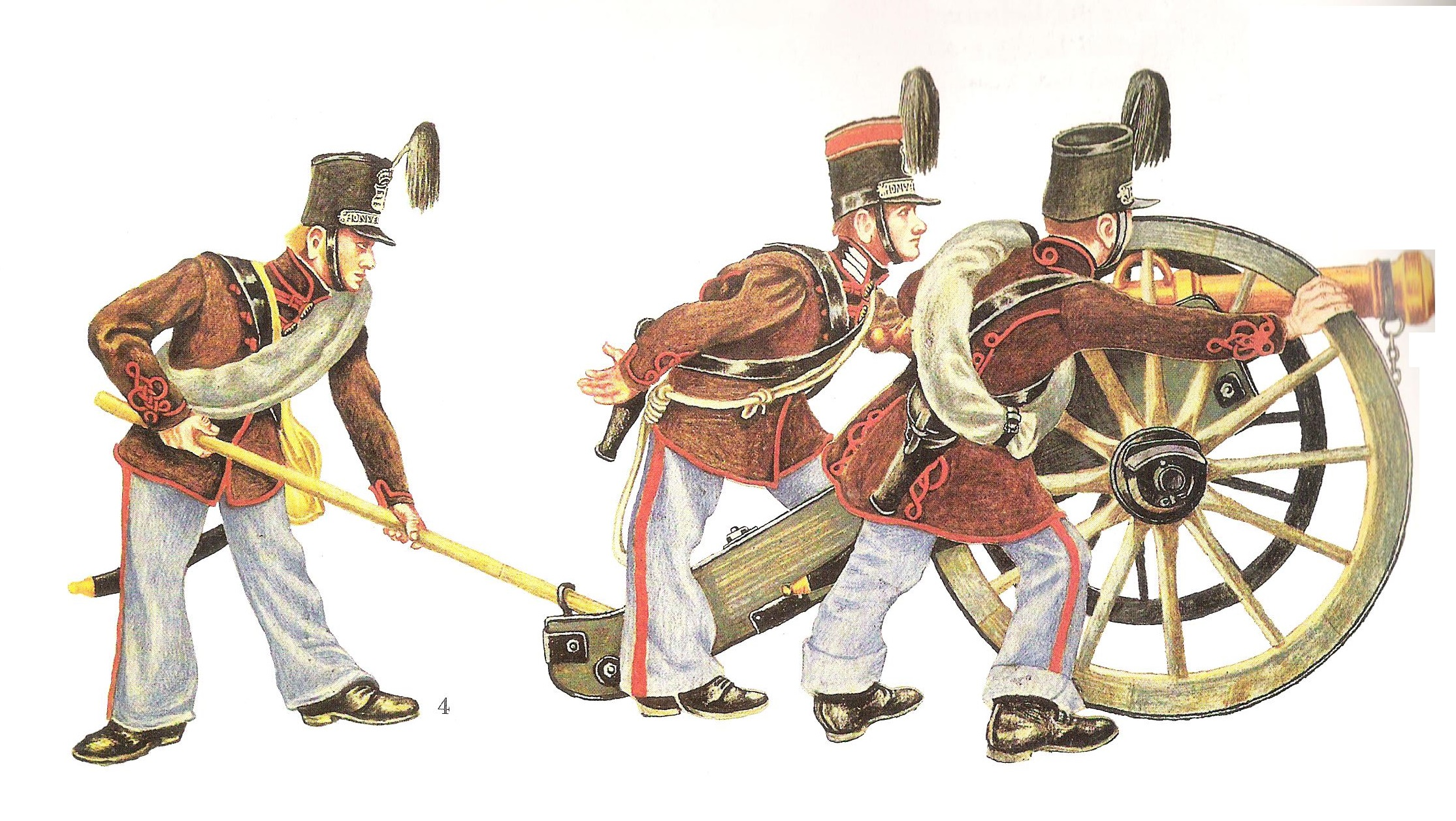 Honvéd tüzérek 1848